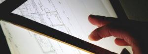 Bauplan und Grundriss für ein Sonnensegel am Haus