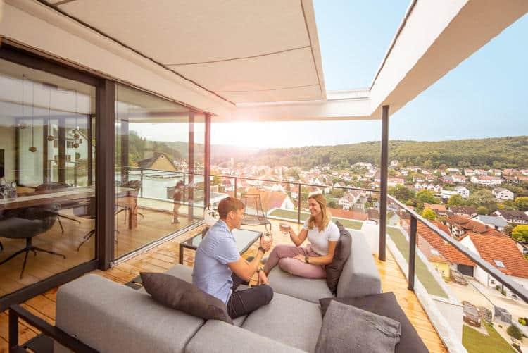 Reflexa Wintergartenmarkise LifeSmall Balkon
