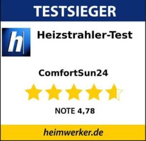 Siegel - Infrarot-Heizstrahler Testsieger