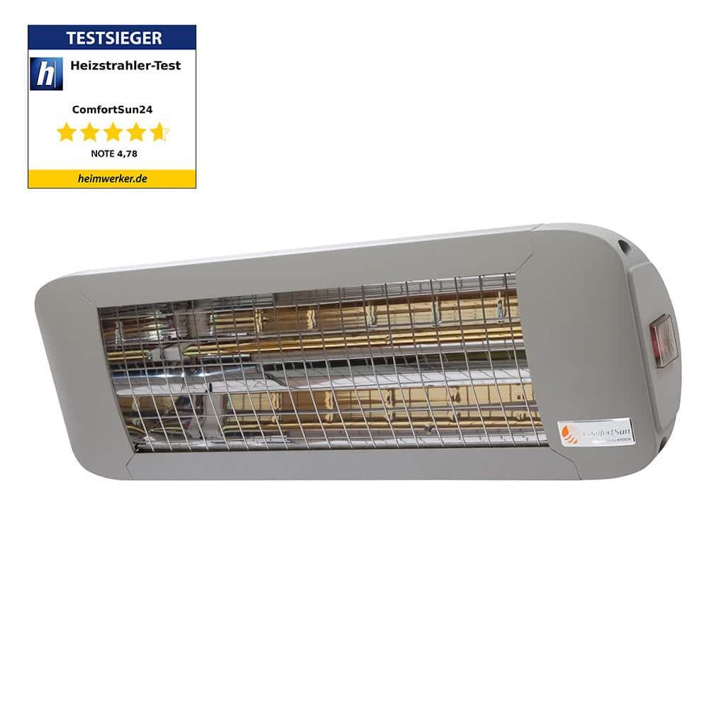 Terrassenheizstrahler 1400 Watt mit weißem Licht