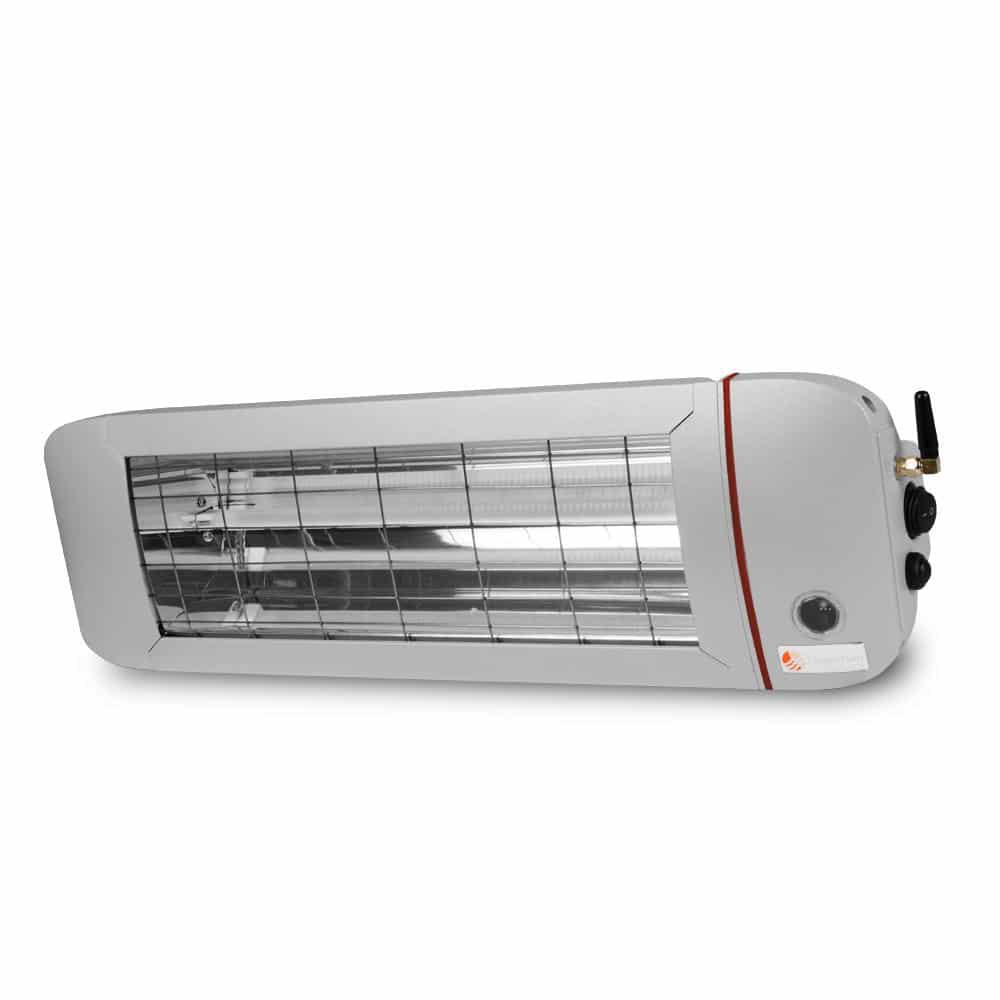 Terrassenheizstrahler mit App 1400 Watt weisses Licht