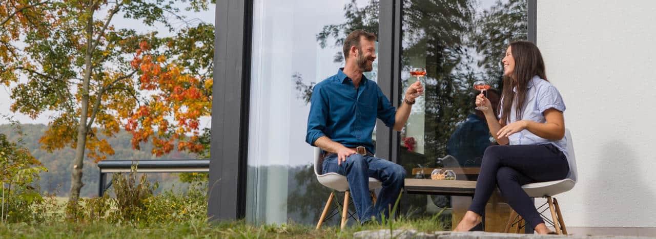 Elektrische Heizstrahler für die Terrasse