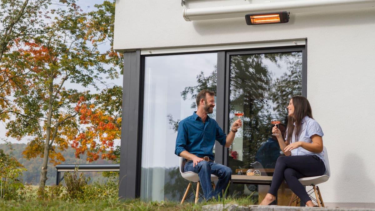 Heizstrahler für die Terrasse