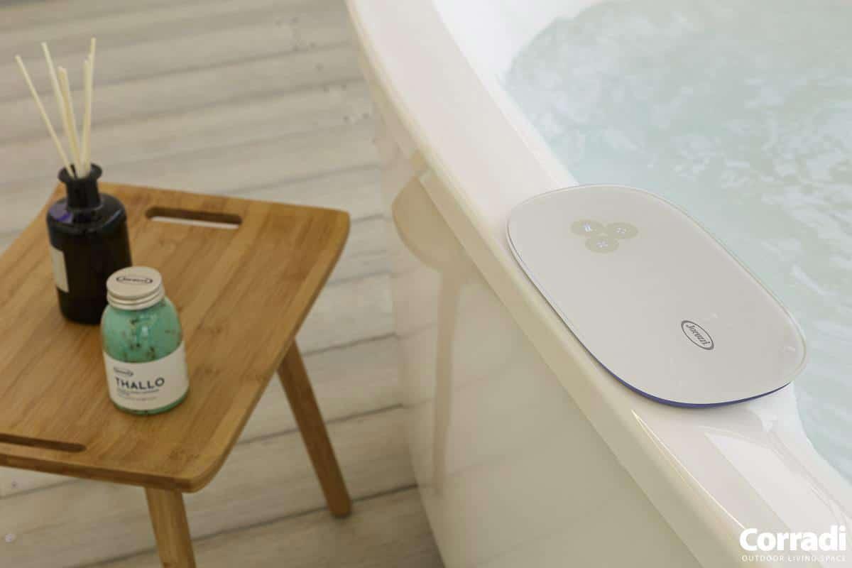 Bioclimatics Imago Pergola Beispiel mit Badewanne